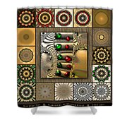 Glimmering Afternoon Redux Shower Curtain