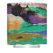 Glimpses Of Spring Abstract Painting Shower Curtain