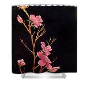 Glistening Blossoms Shower Curtain