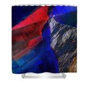 Glitchscape - Liquefaction Shower Curtain