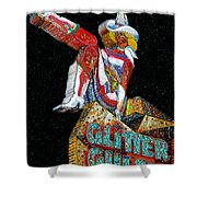 Glitter Gulch Girl Shower Curtain