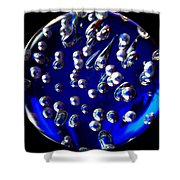 Global Swimming Tears Shower Curtain