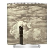 Global Warming Shower Curtain
