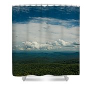 Globe And Sky Shower Curtain