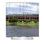 Globe Life Park Shower Curtain