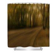 Gloomy Autumn Shower Curtain