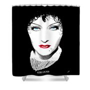 Gloria Swanson - Edith Piaf Shower Curtain