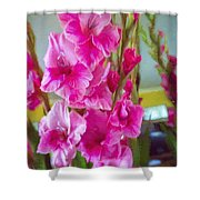 Glorious Gladiolus Shower Curtain