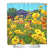 Glorious Yellow And The Franklin Shower Curtain