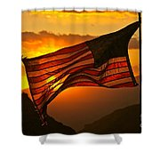Glory At Sunset Shower Curtain