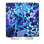 Glory Of The Snow - Violet And Turquoise Shower Curtain
