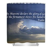 Glory To God   Psalm 10 1 Shower Curtain
