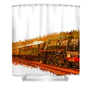 Glory Train To Heaven Shower Curtain