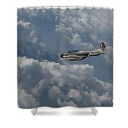 Gloster Meteor  Shower Curtain