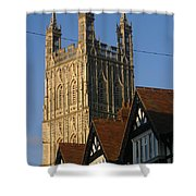 Gloucester Cathedral Spire Shower Curtain