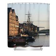 Gloucester Docks 1 Shower Curtain