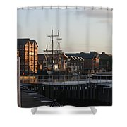 Gloucester Docks 3 Shower Curtain