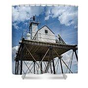 Gloucester Harbor Beacon Station Shower Curtain
