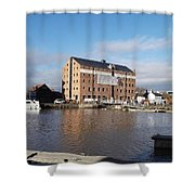 Gloucester Historic Docks 3 Shower Curtain