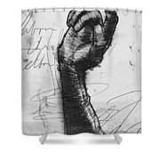 Glove Study Shower Curtain by H James Hoff