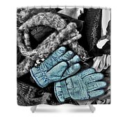 Gloves And Frost Shower Curtain