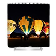 Glow At Night Shower Curtain
