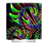 Glow In The Dark Abstract Shower Curtain