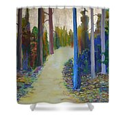 Glow Of Spring Shower Curtain