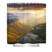 Glow Of The Gods Shower Curtain by Peter Coskun
