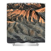 Glowing Badlands Tips Shower Curtain