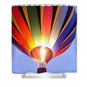 Glowing Balloon Shower Curtain