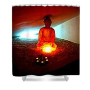 Glowing Buddha Shower Curtain