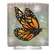 Glowing Butterfly Shower Curtain