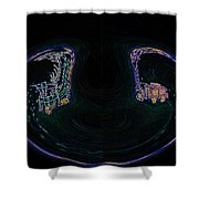 Glowing Choo Choo In Lights Abstract  Shower Curtain