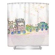 Glowing Choo Choo Invert Shower Curtain