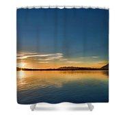 Glowing Clayquot Sound Shower Curtain