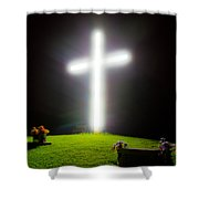 Glowing Cross Shower Curtain
