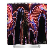 Glowing Curves Shower Curtain
