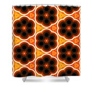 Glowing Floral Pattern Shower Curtain