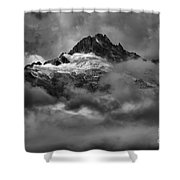 Glowing Glaciers In The Tantalus Range Shower Curtain