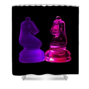 Glowing Glass Knights Shower Curtain