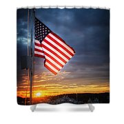 Glowing Glory Shower Curtain