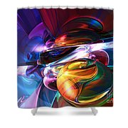 Glowing Life Abstract Shower Curtain