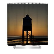 Glowing Lighthouse Shower Curtain by Anne Gilbert