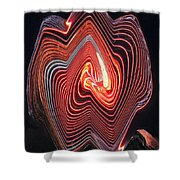 Glowing Lines Shower Curtain