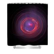 Glowing Shower Curtain