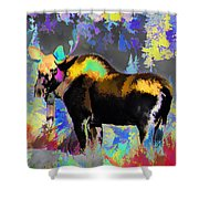 Electric Moose Shower Curtain