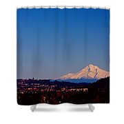Glowing Mt Hood Shower Curtain