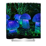 Glowing Mushrooms Shower Curtain