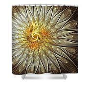 Glowing Petals Shower Curtain